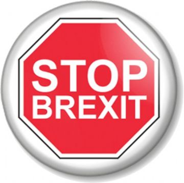 STOP BREXIT Pin Button Badge  - Various sizes - Stop Sign Anti-Brexit Remain Stay in Europe EU (1)